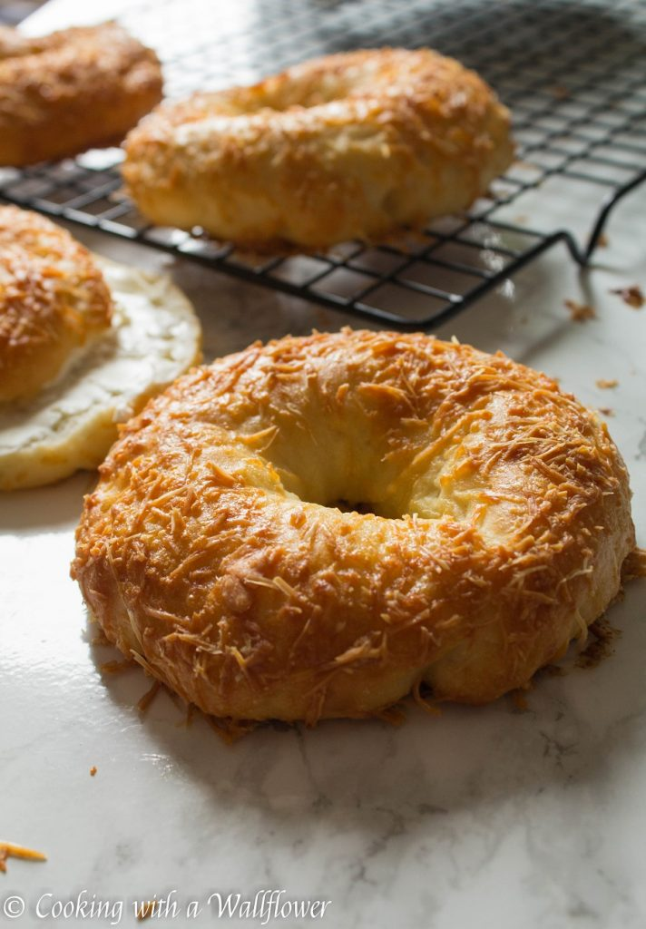 Homemade Parmesan Bagels | Cooking with a Wallflower
