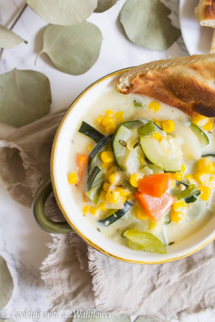 Creamy Corn Vegetable Soup | Cooking with a Wallflower