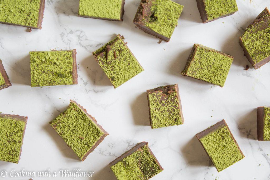 Matcha Green Tea Chocolate Fudge | Cooking with a Wallflower
