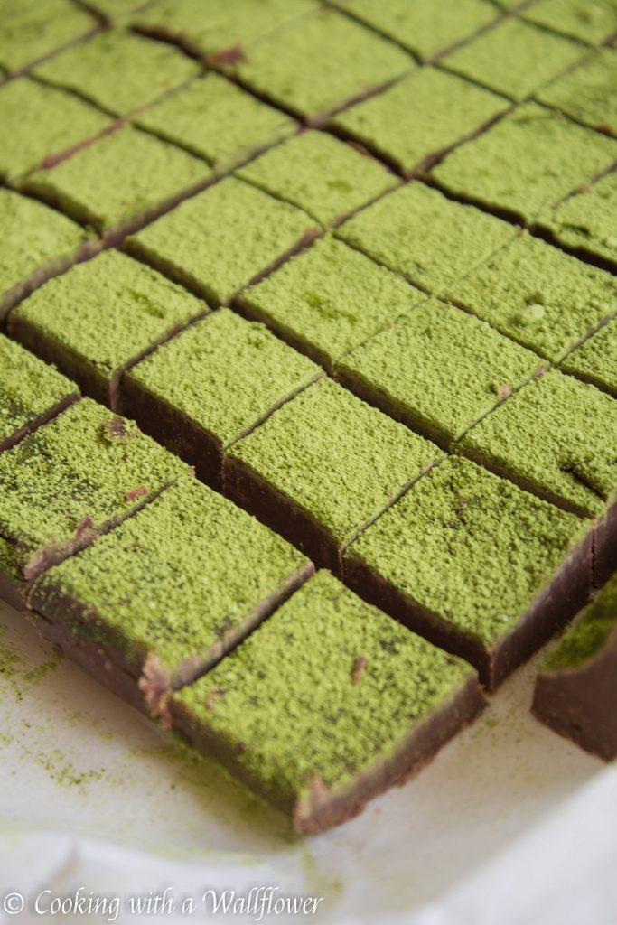 Matcha Green Tea Chocolate Fudge | Cooking with a Wallflower