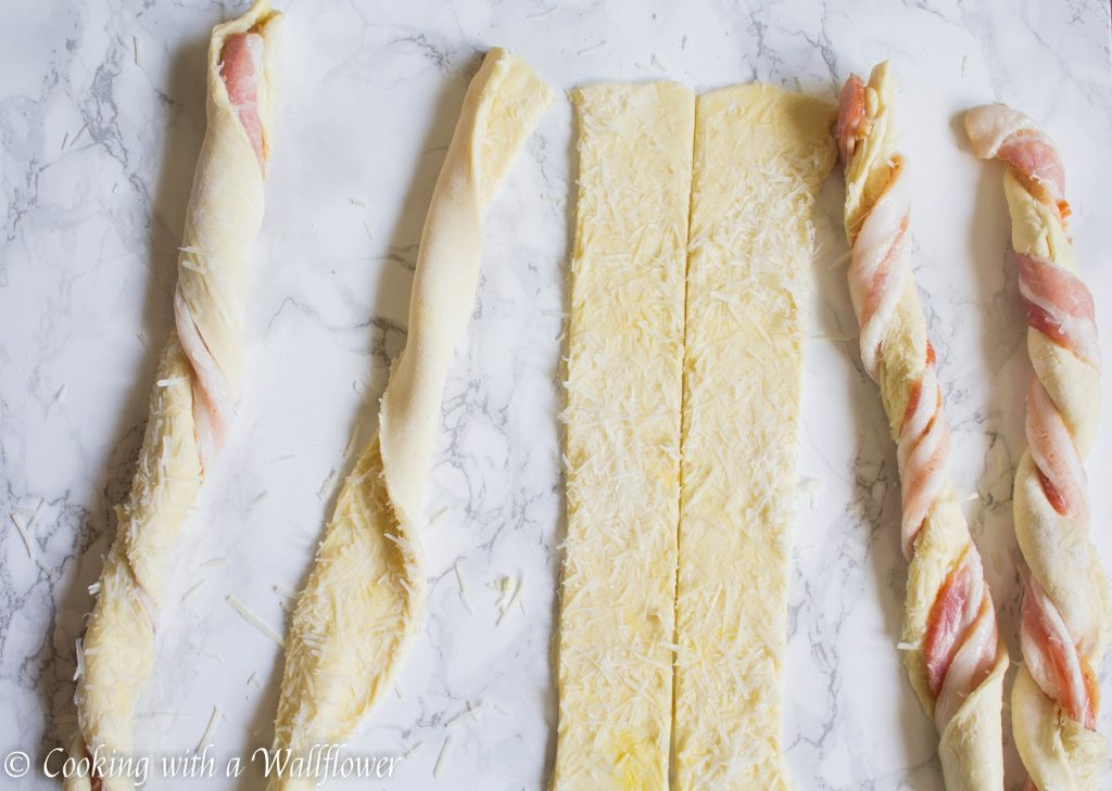 Parmesan Bacon Twists | Cooking with a Wallflower