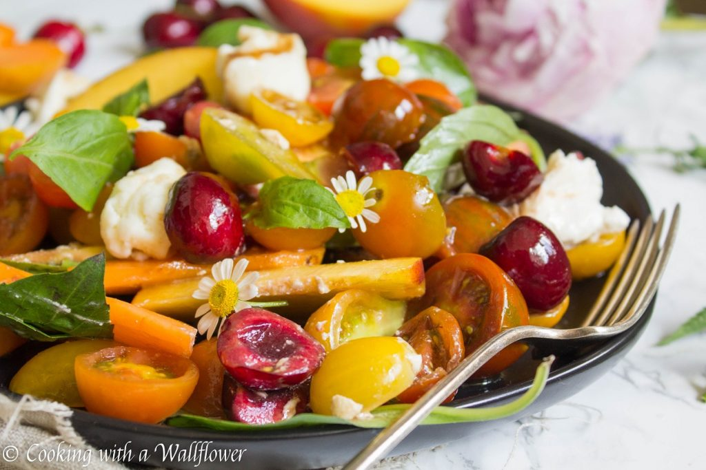 Stone Fruit Caprese Salad | Cooking with a Wallflower