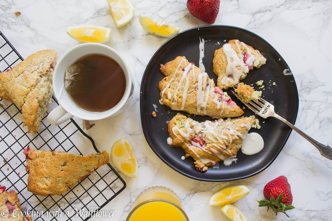 Strawberry Lemon Poppy Seed Scones