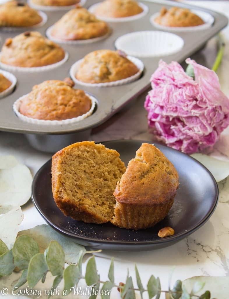 Banana Nut Muffins | Cooking with a Wallflower