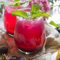 Blueberry Lemonade | Cooking with a Wallflower
