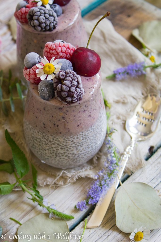 Braspberry Layered Chia Pudding | Cooking with a Wallflower