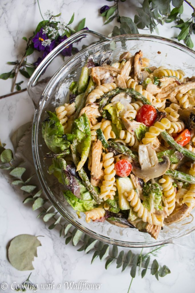 Chipotle Ranch Chicken Pasta Salad | Cooking with a Wallflower