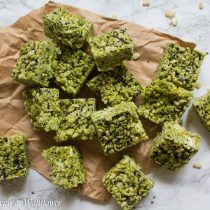 Matcha Rice Crispy Treats | Cooking with a Wallflower