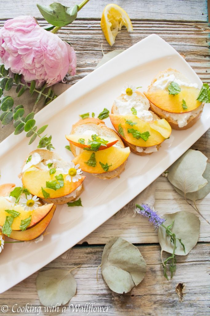 Peach Burrata Toast | Cooking with a Wallflower