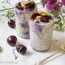 Cherry Swirled Overnight Oats | Cooking with a Wallflower
