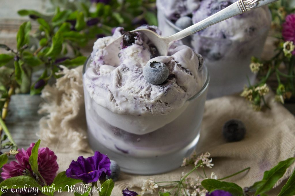 No Churn Blueberry Ice Cream | Cooking with a Wallflower