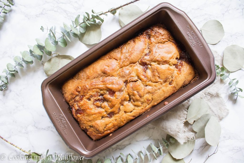 Strawberry Almond Butter Bread   Cooking with a Wallflower