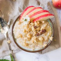 Apple Cinnamon Steel Cut Oatmeal | Cooking with a Wallflower