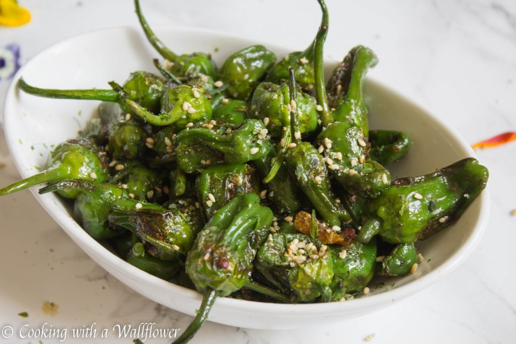 Furikake Seasoned Padron Peppers | Cooking with a Wallflower
