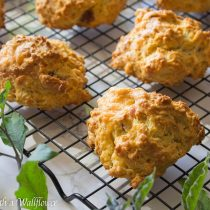 Bacon Cheddar Biscuits | Cooking with a Wallflower