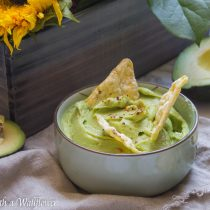 Garlic Lemon Guacamole | Cooking with a Wallflower