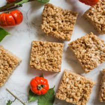Pumpkin Spice Rice Crispy Treats | Cooking with a Wallflower