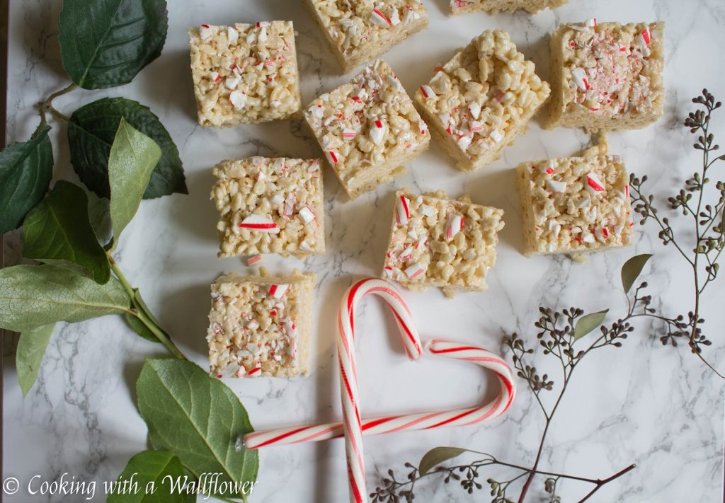 Peppermint Rice Crispy Treats | Cooking with a Wallflower