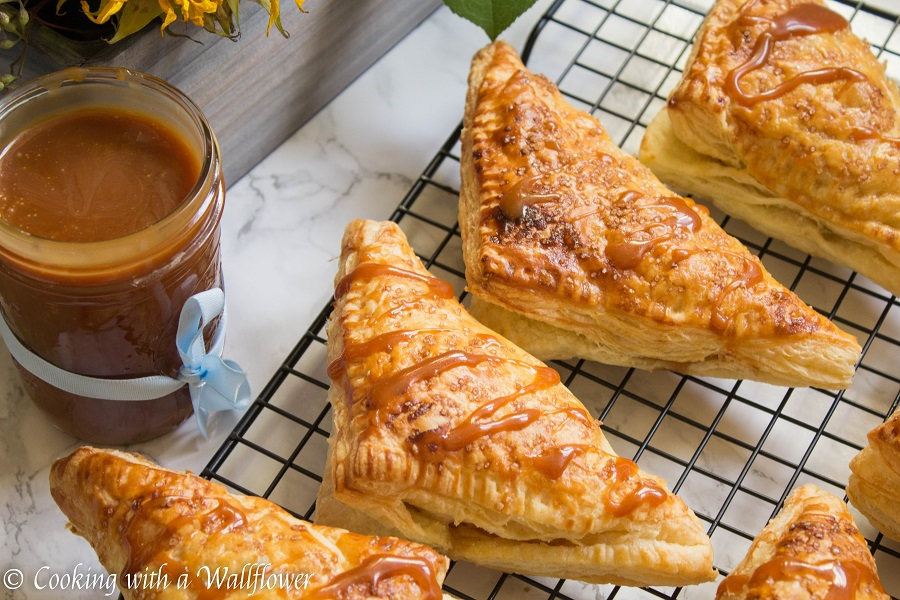 Salted Caramel Apple Turnovers | Cooking with a Wallflower