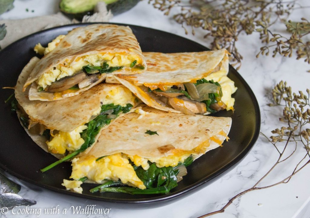 Soft Scrambled Eggs Breakfast Quesadilla | Cooking with a Wallflower