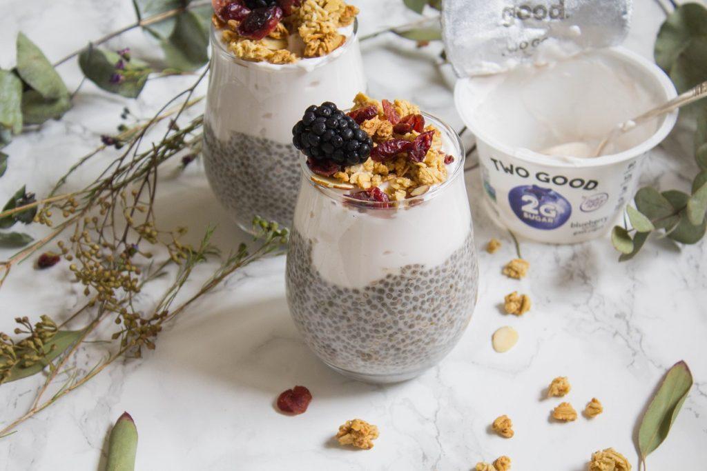 Overnight Chia Pudding Yogurt Parfait | Cooking with a Wallflower