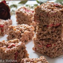 Strawberry Chocolate Rice Crispy Treats | Cooking with a Wallflower