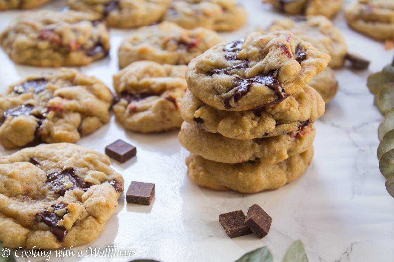 Strawberry Dark Chocolate Chunk Cookies