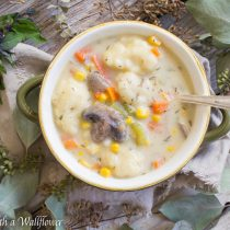 Creamy Vegetable and Dumpling Soup | Cooking with a Wallflower