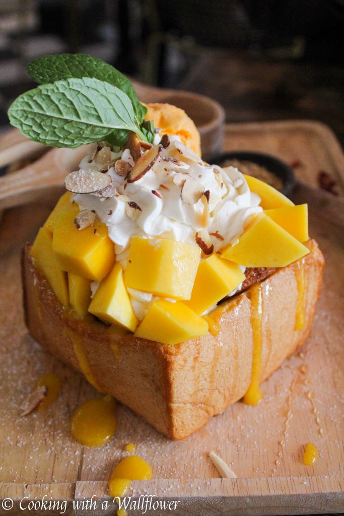 Mango Sticky Rice Toast Box