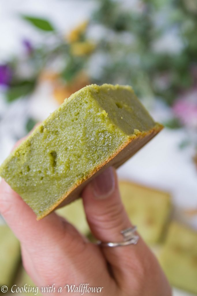 Matcha Butter Mochi Cake  | Cooking with a Wallflower