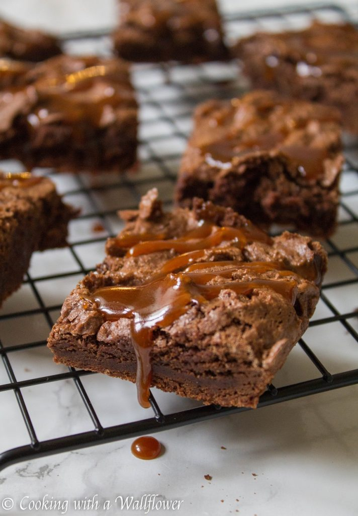 Salted Caramel Brownies | Cooking with a Wallflower