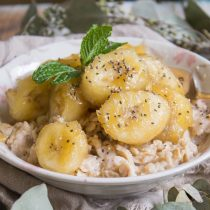 Caramelized Banana Almond Oatmeal | Cooking with a Wallflower