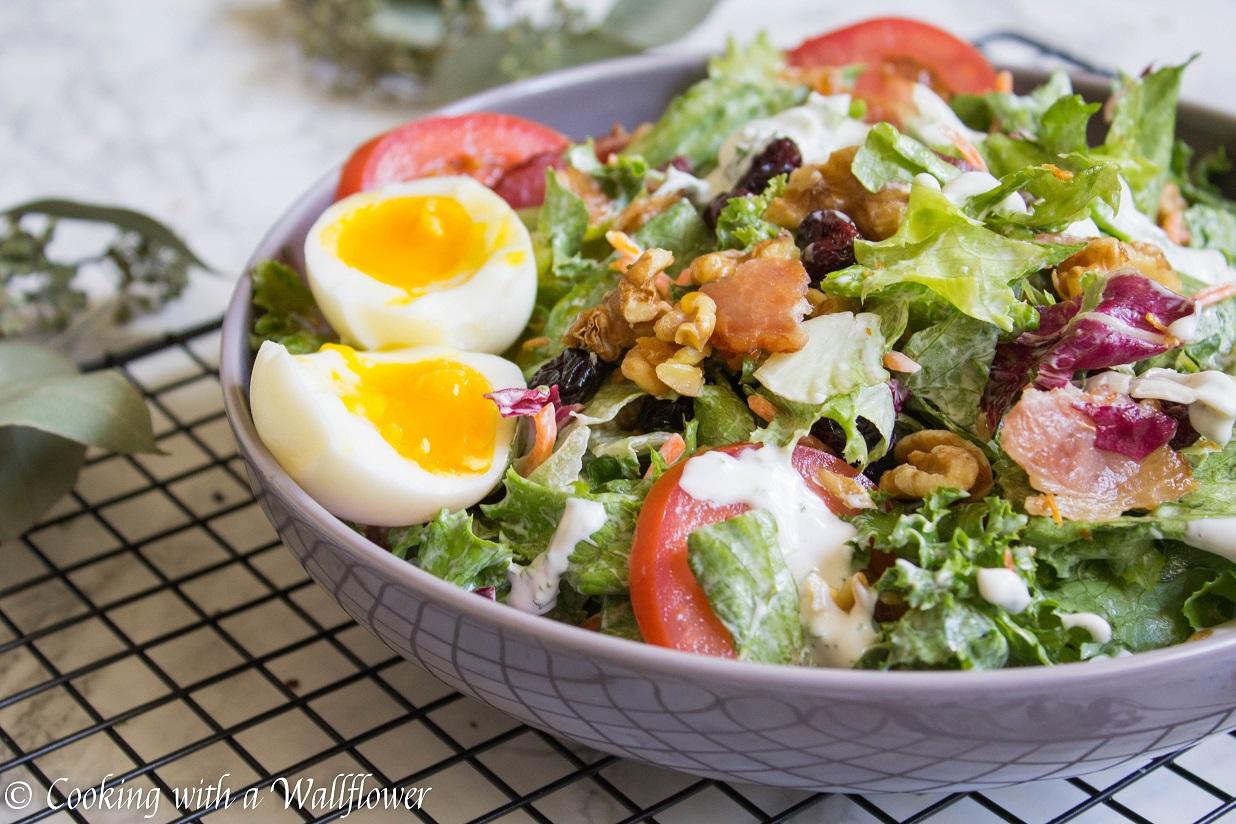 Jammy Egg Bacon Salad