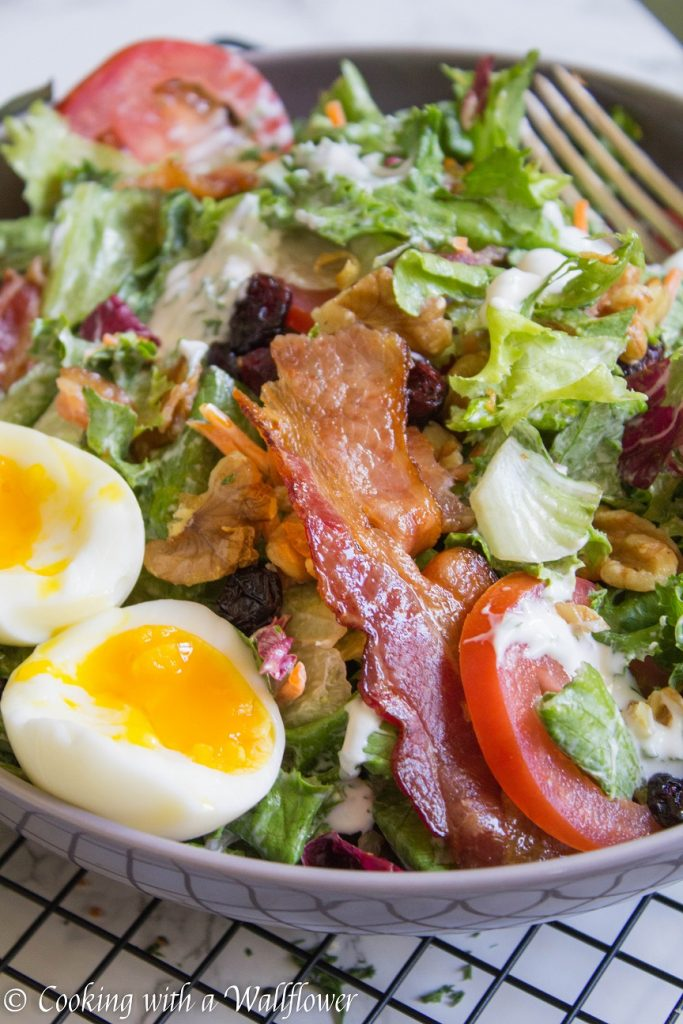 Jammy Egg Bacon Salad | Cooking with a Wallflower