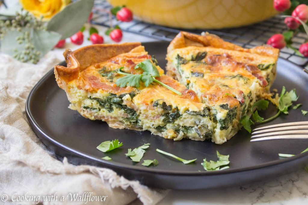 Spinach Bacon Quiche | Cooking with a Wallflower