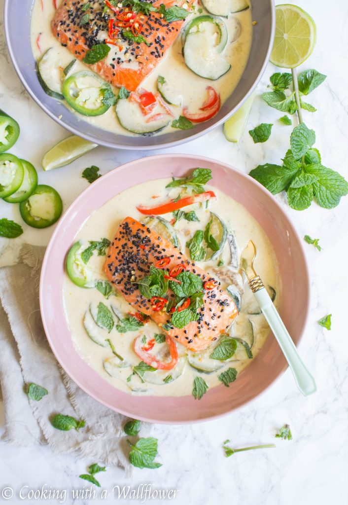 Baked Salmon Green Curry Bowl   Cooking with a Wallflower