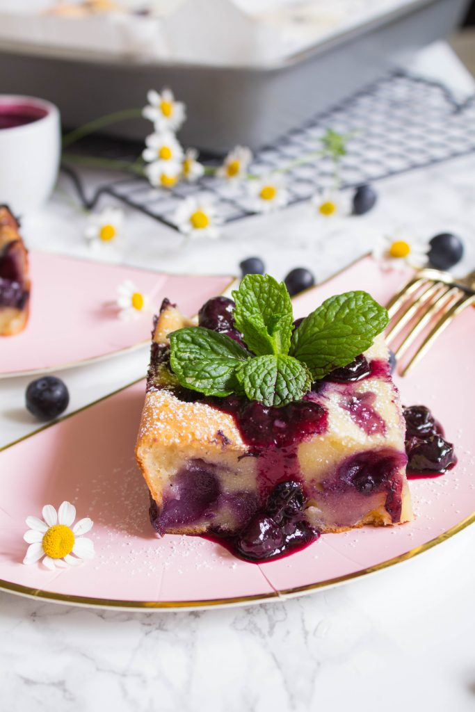Blueberry Mochi Cake | Cooking with a Wallflower