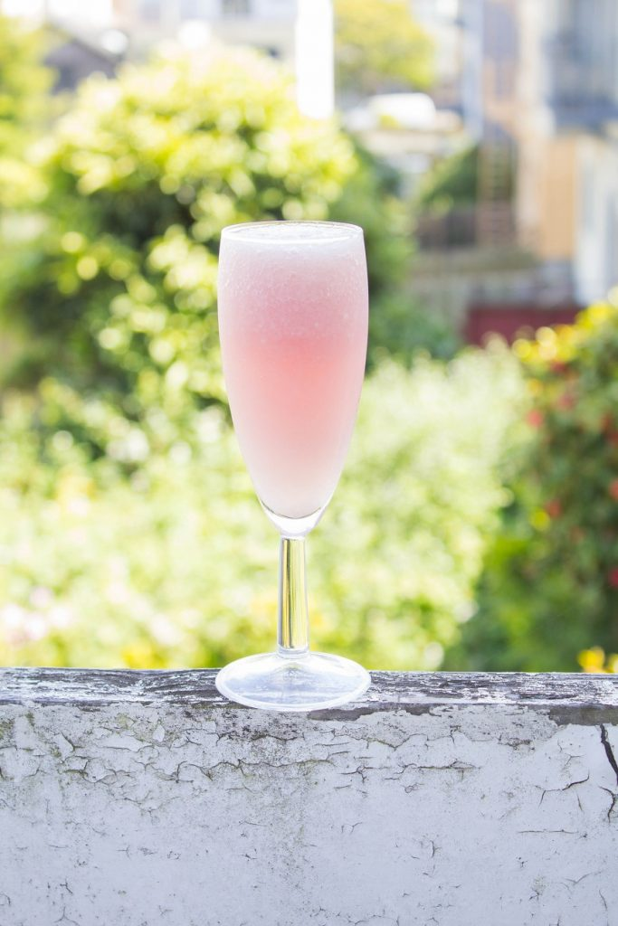 Lychee Rosé Wine Slushie | Cooking with a Wallflower