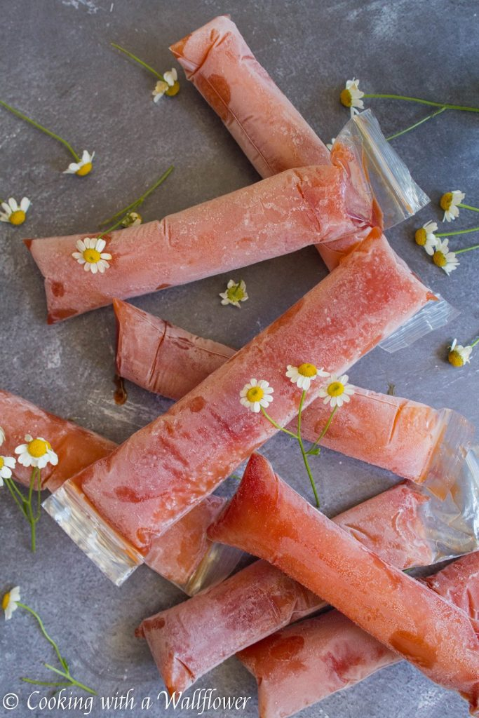 Tangerine Hibiscus Freezer Pops | Cooking with a Wallflower