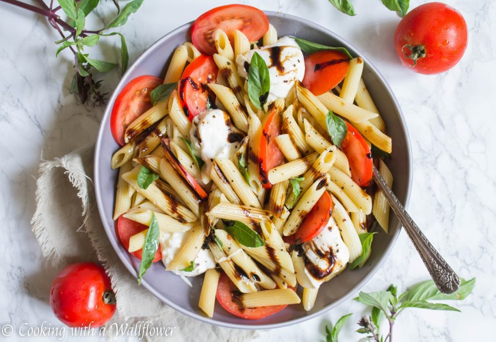 Caprese Pasta Salad | Cooking with a Wallflower
