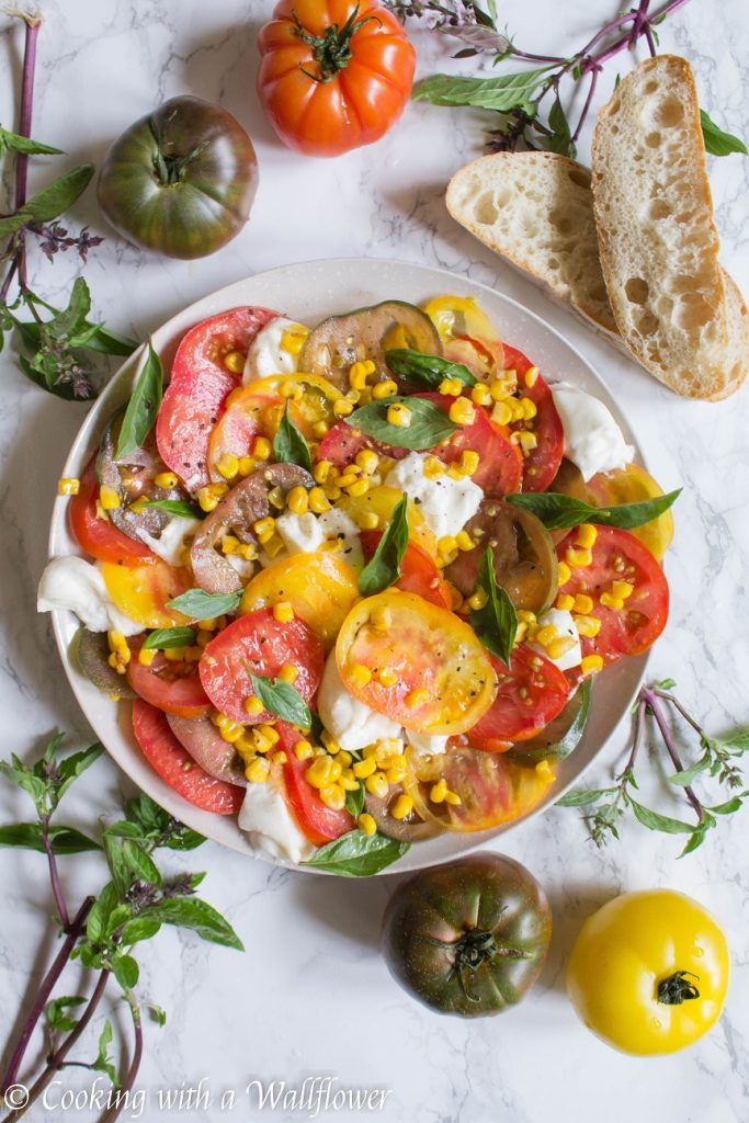 Heirloom Tomato Burrata Salad | Cooking with a Wallflower