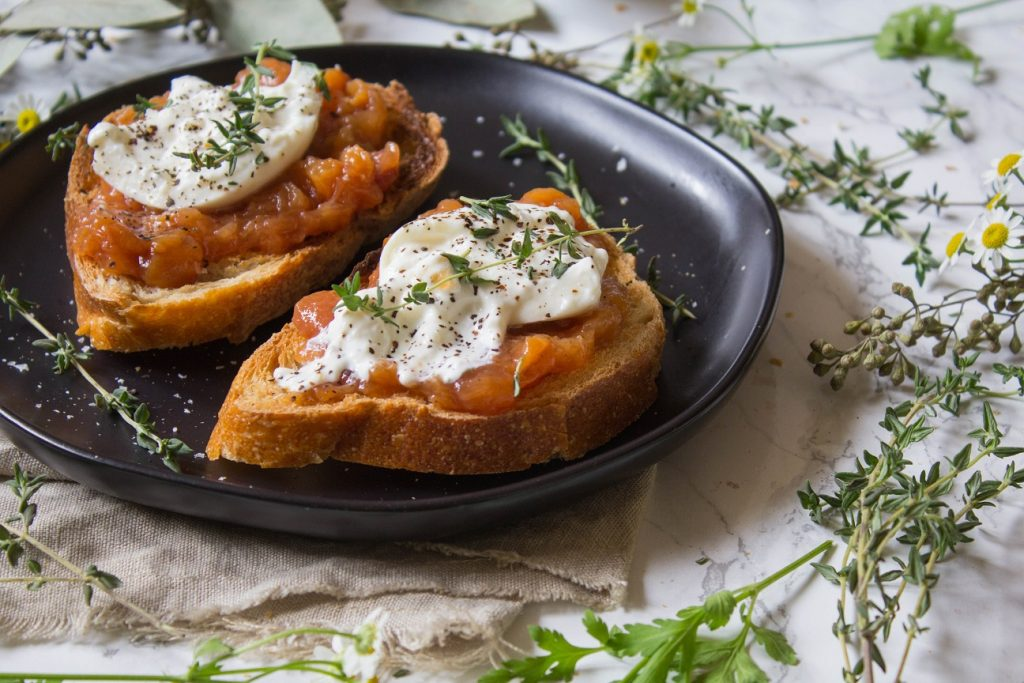 Peach Jam Burrata Toast | Cooking with a Wallflower