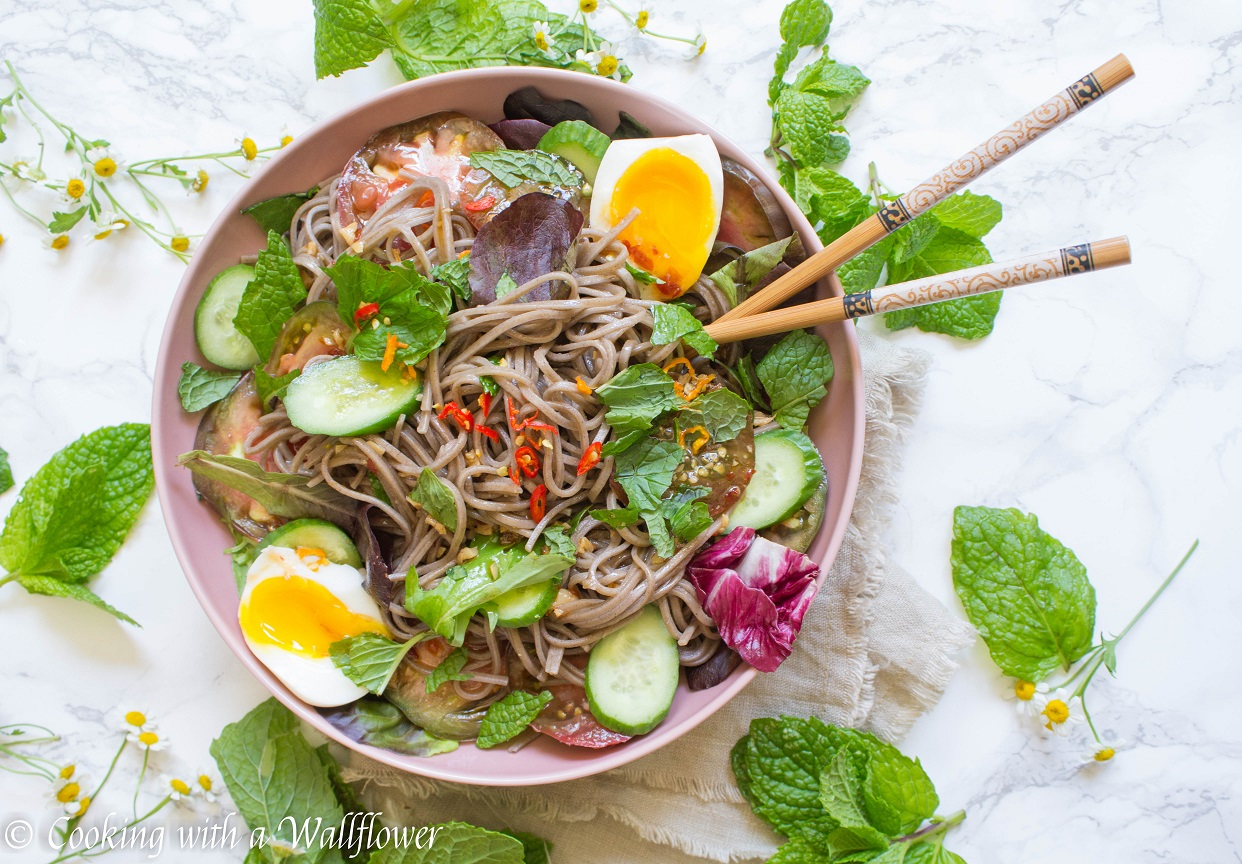 Heirloom Tomato Soba Noodle Salad