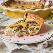 Roasted Mushroom Quiche | Cooking with a Wallflower
