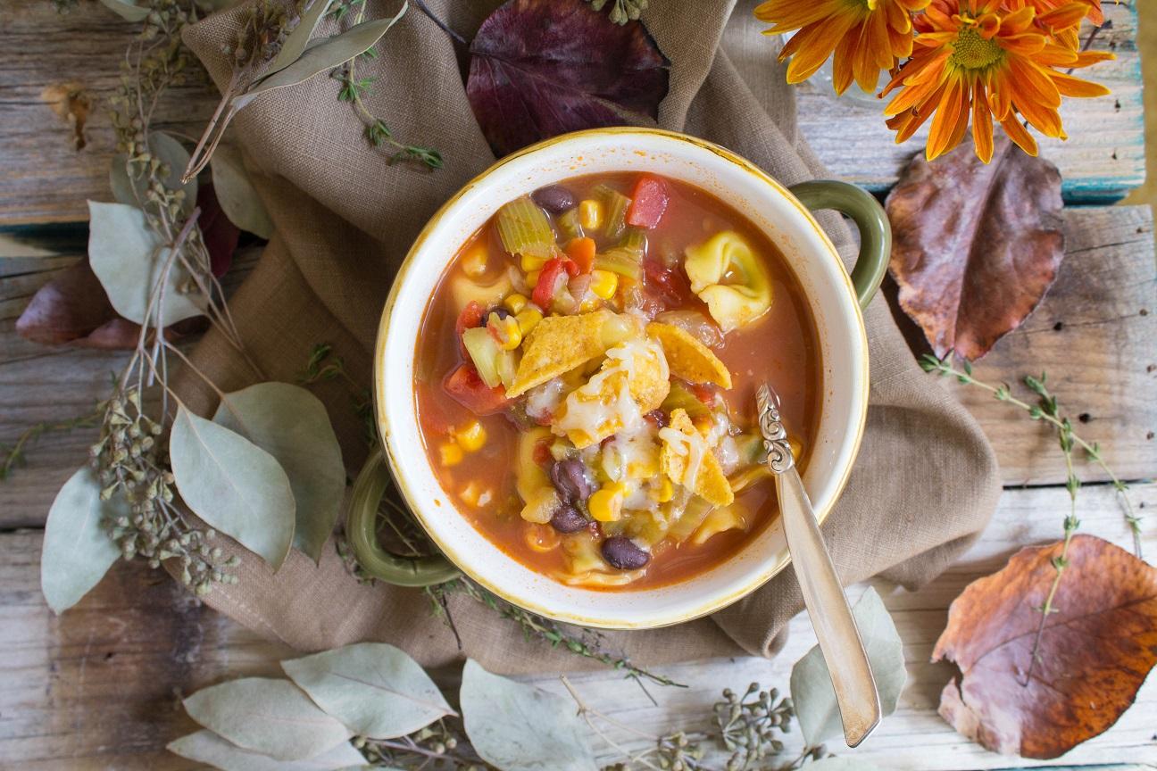 Chicken Tortellini Tortilla Soup