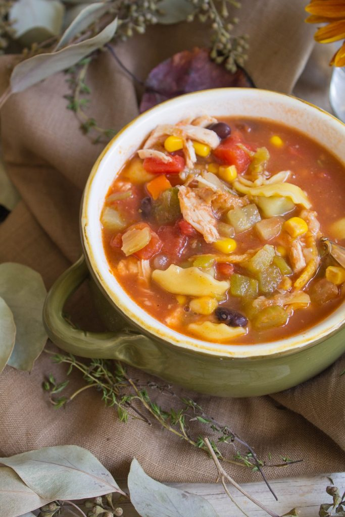 Chicken Tortellini Tortilla Soup | Cooking with a Wallflower