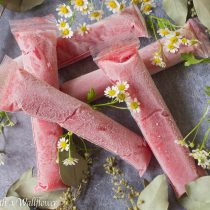 Strawberry Rosé Freezer Pops | Cooking with a Wallflower