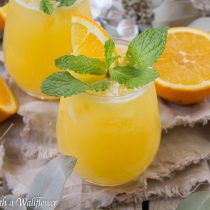 Pineapple Orange Mimosas | Cooking with a Wallflower