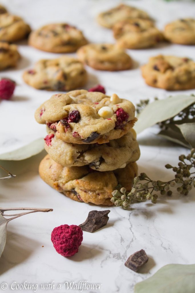 Raspberry Chocolate Chip Cookies   Cooking with a Wallflower