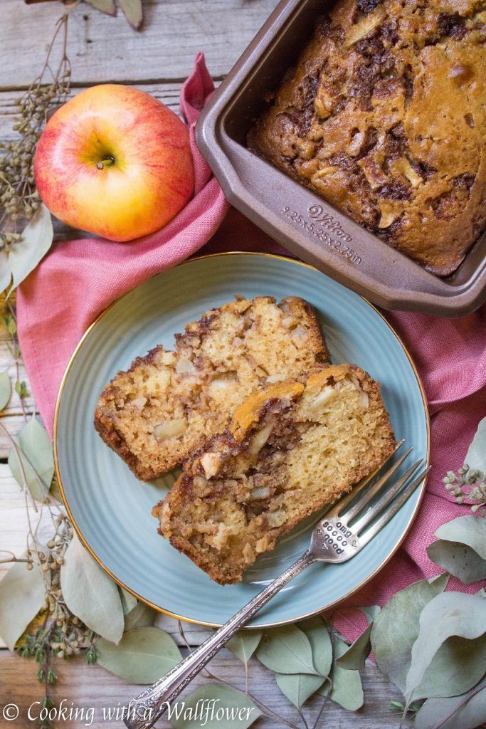 Chai Spiced Apple Loaf Cake | Cooking with a Wallflower